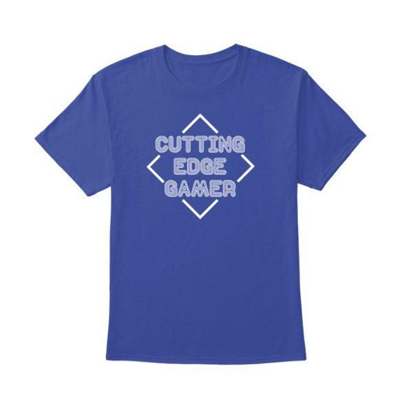 Cutting Edge Gamer – Psych – Unisex Blue T-Shirt