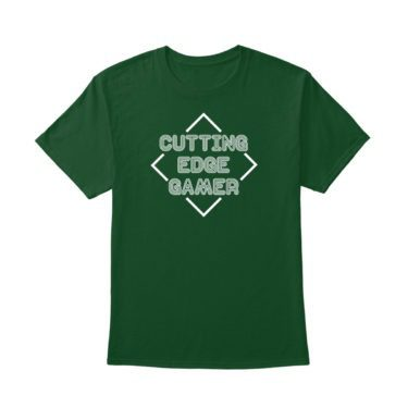 Cutting Edge Gamer – Psych – Unisex Green T-Shirt