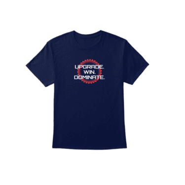 UPGRADE. WIN. DOMINATE. Navy Men's T-Shirt